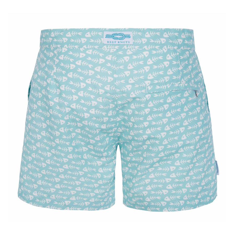 Aqua Fish Bones Tailored Swim Shorts