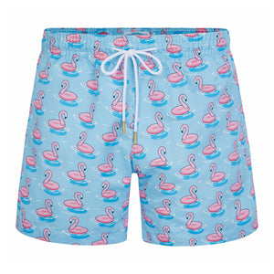 Blue Flamingo Float Classic Swim Shorts