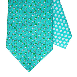 Men's Cocktail Green Silk Tie