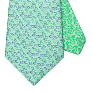 Men's Gecko Green Silk Tie