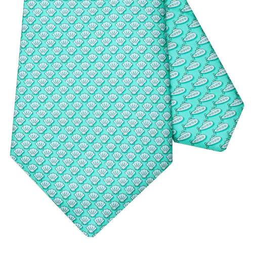 Men's Shells Green Silk Tie
