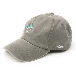Palm Tree Baseball Cap - Grey