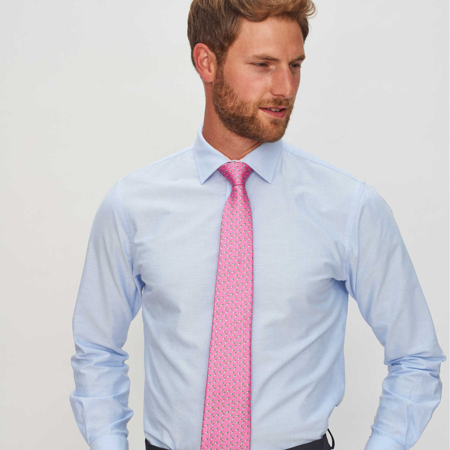 Men's Cocktail Pink Silk Tie