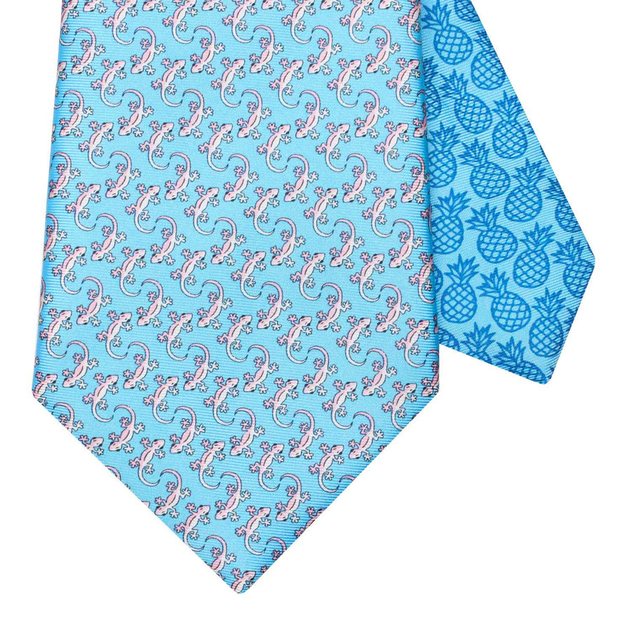 Men's Gecko Light Blue Silk Tie