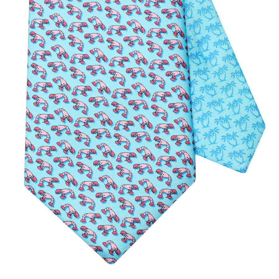 Men's Lobster Light Blue Silk Tie