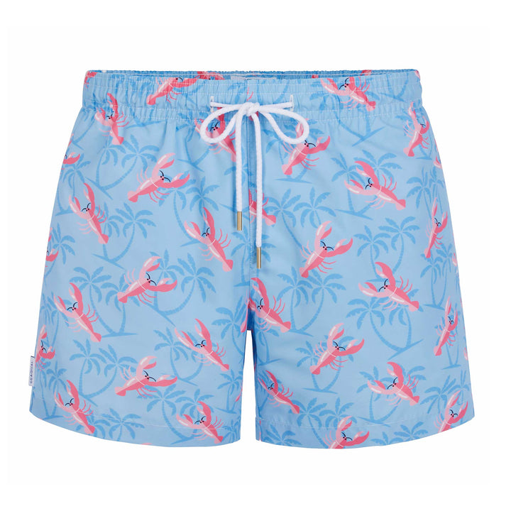 Men's Lobster Light Blue Swim Shorts