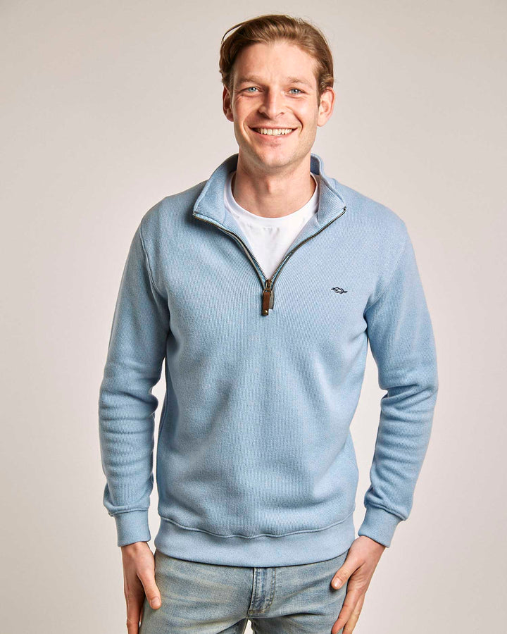 Light Blue Quarter Zip (No Contrast)