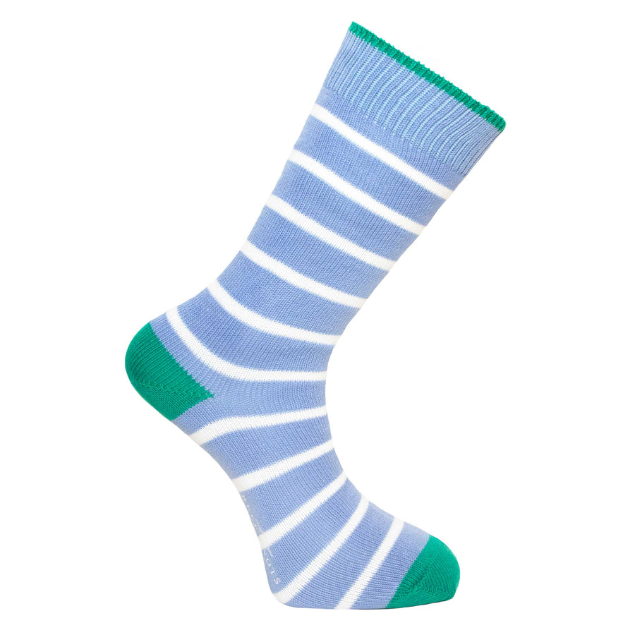 Light Blue Stripe Socks - Lightweight