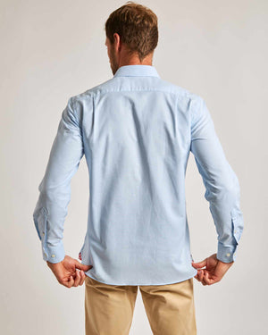 Blue Oxford Shirt - Traditional Collar