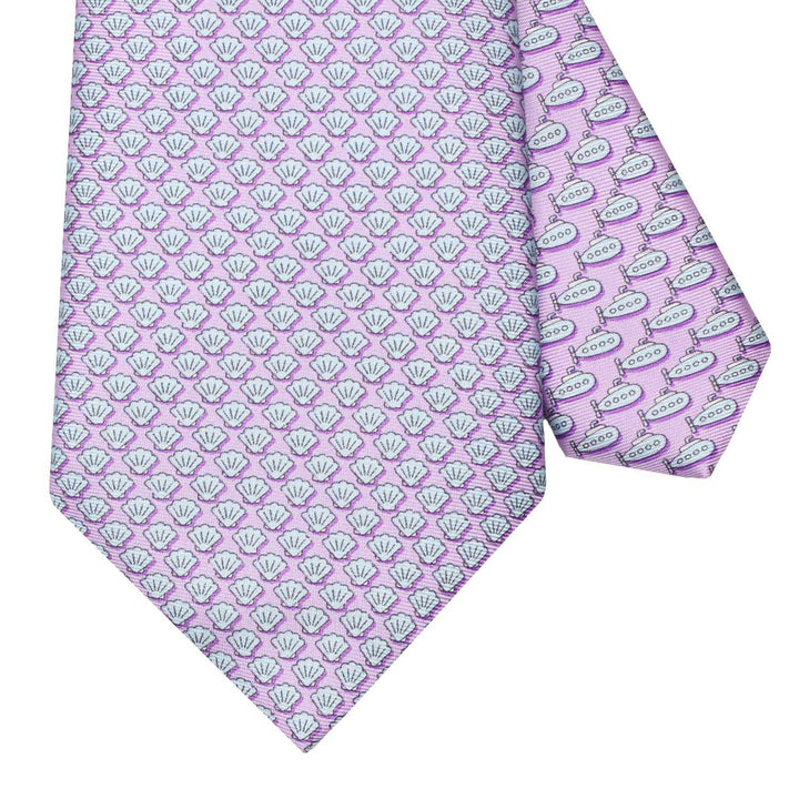 Men's Shells Lilac Silk Tie