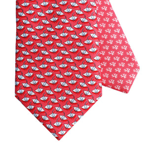 Men's Manta Ray Red Silk Tie