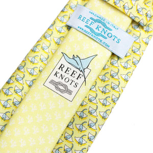 Men's Manta Ray Yellow Silk Tie