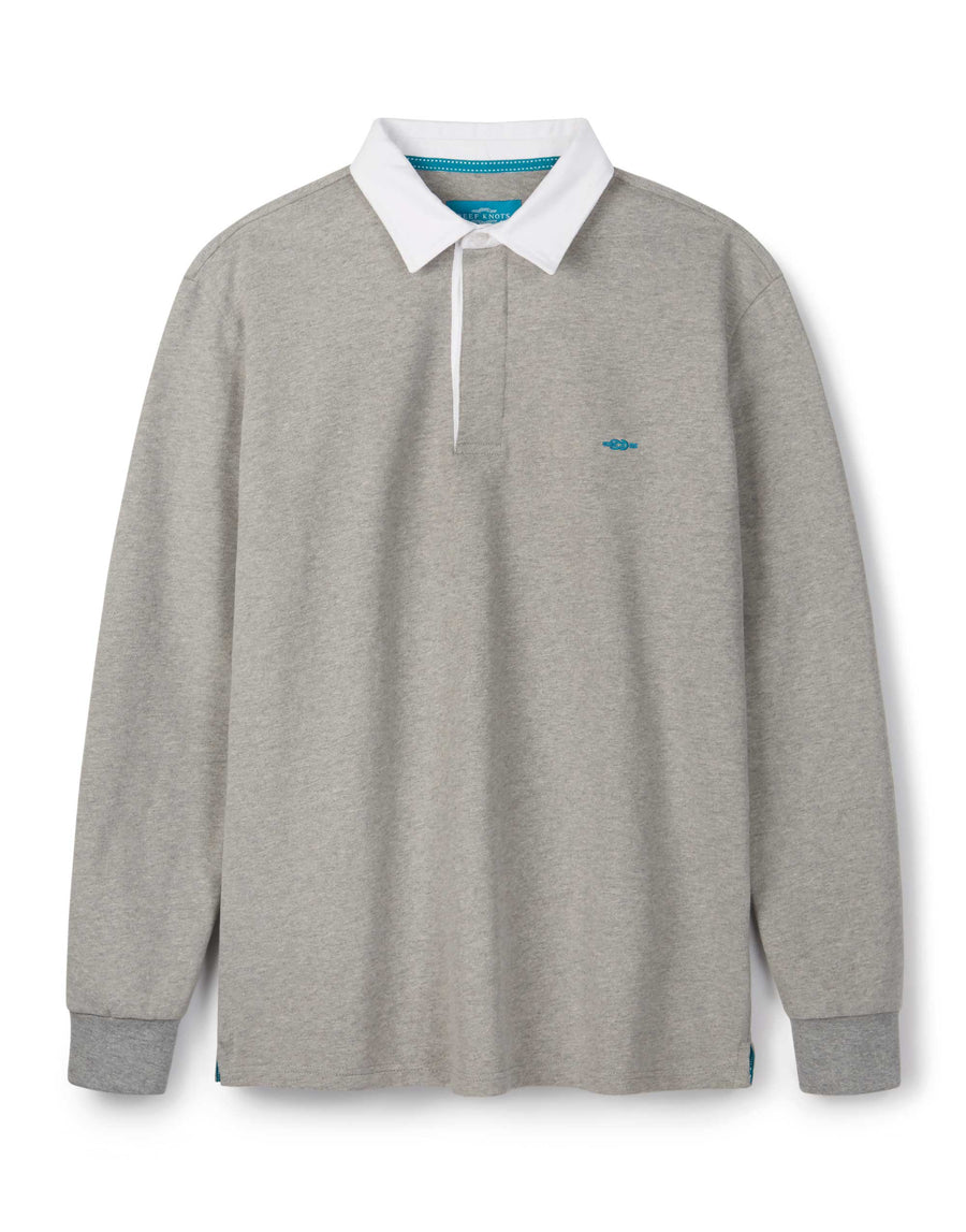 Grey Mélange Rugby Shirt - Long Sleeve