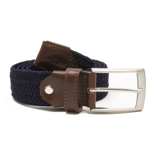 Navy Blue Woven Elasticated Belt