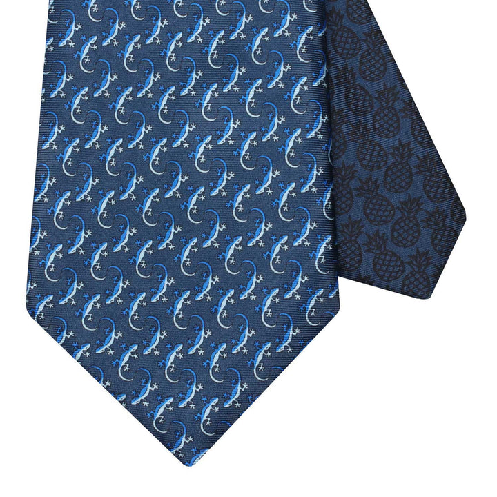 Men's Gecko Navy Blue Silk Tie