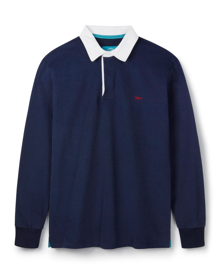 Dark Blue Rugby Shirt - Long Sleeve