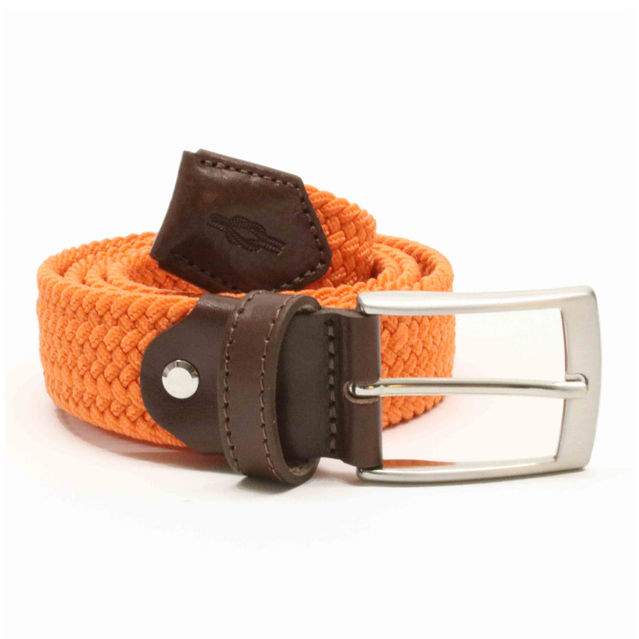 Orange Woven Elasticated Belt
