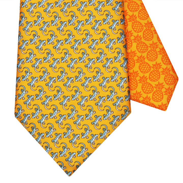 Men's Gecko Orange Silk Tie