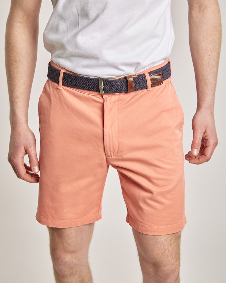 "Orange Organic Cotton Shorts (7"" leg)"