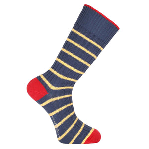Oxford Blue and Yellow Stripe Socks - Chunky