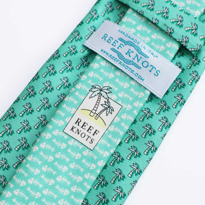 Men's Palm Tree Green Silk Tie
