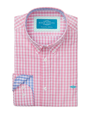 Cotton Gingham Check Shirt - Pink