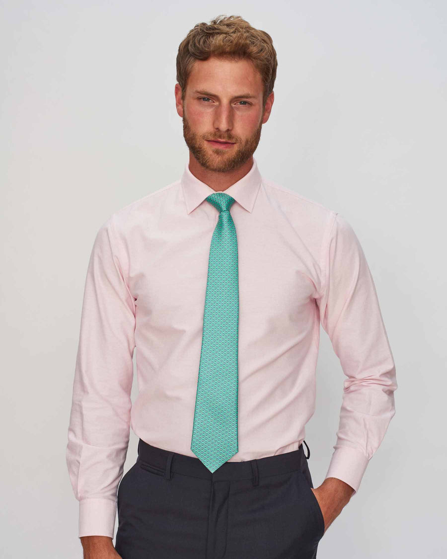 Pink Oxford Shirt - Traditional Collar