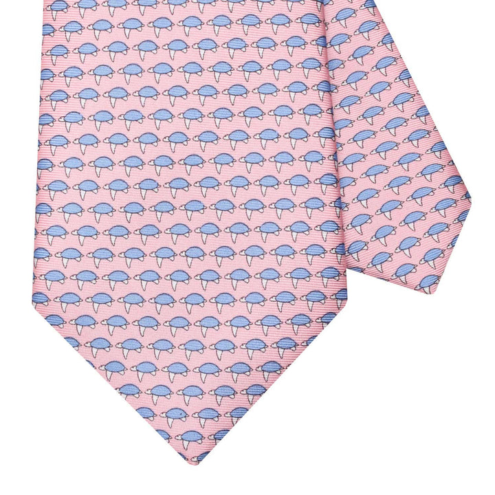 Men's Sea Turtles Pink Silk Tie