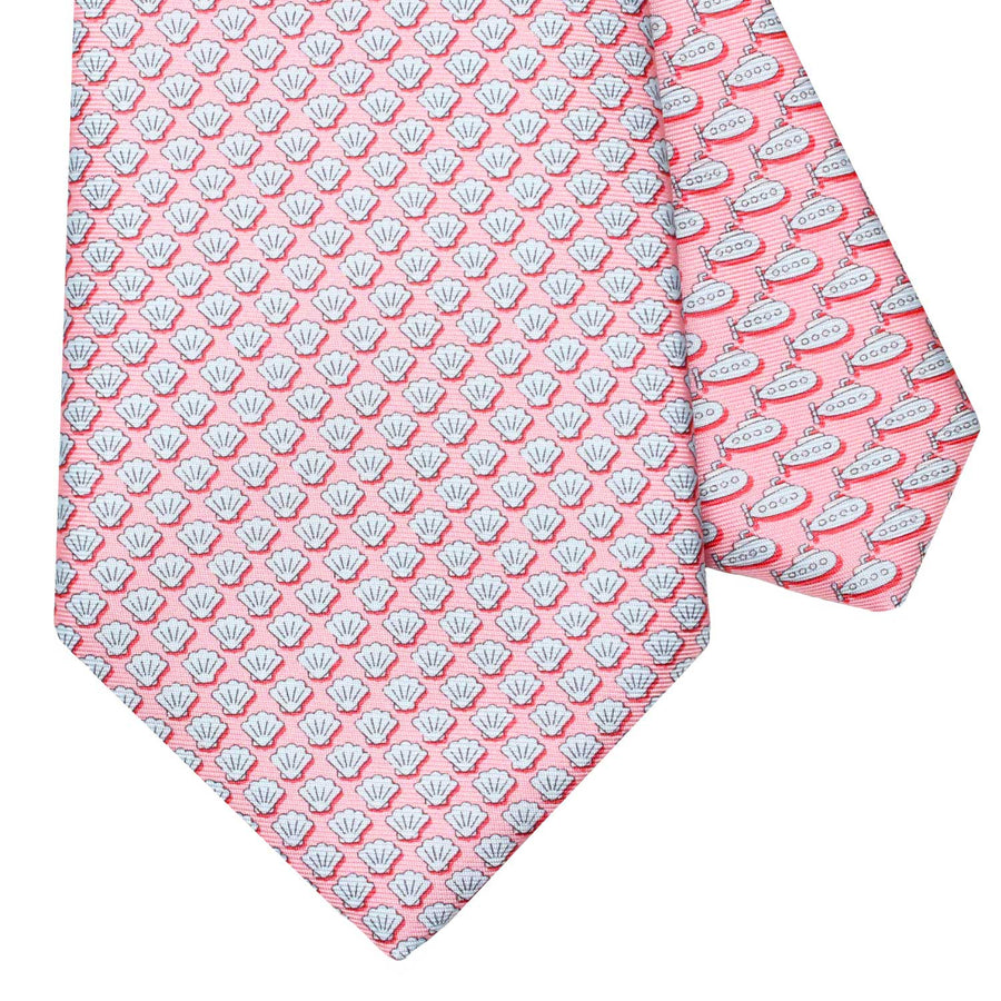 Men's Shells Pink Silk Tie