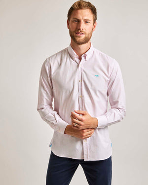 Pink Stripe Oxford Shirt - Button Down