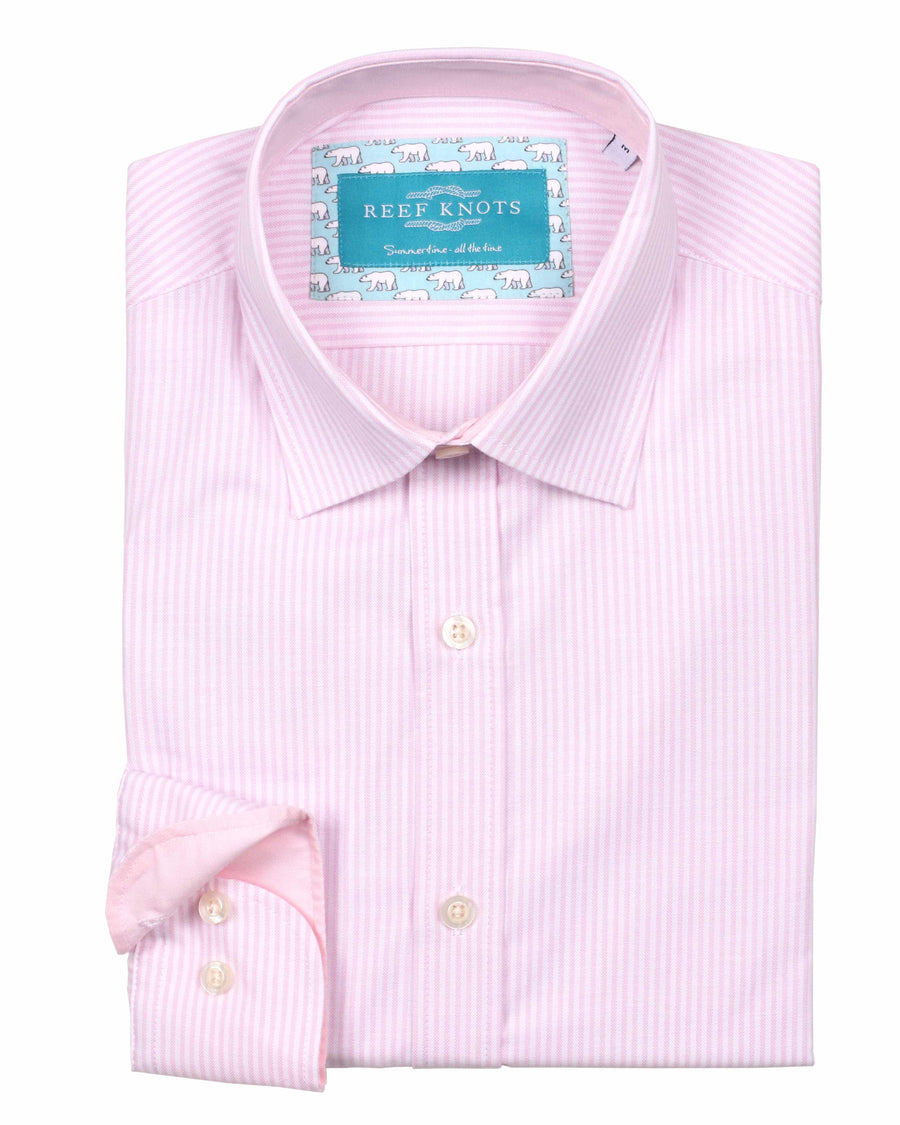 Pink Stripe Oxford Shirt - Traditional Collar