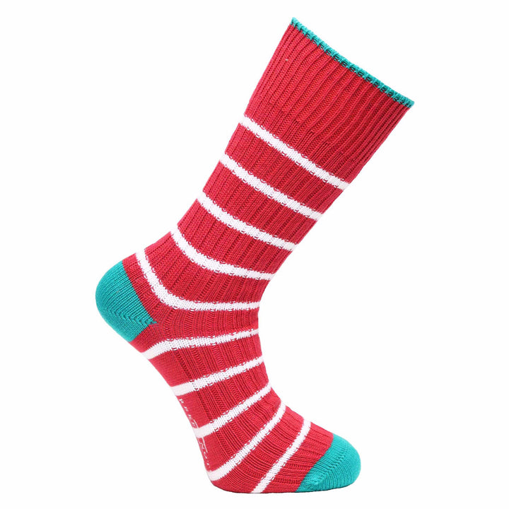 Red Stripe Socks - Chunky