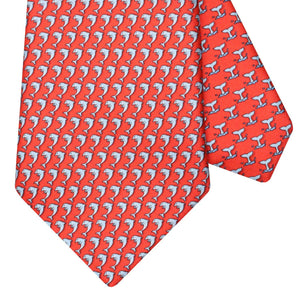 Men's Dolphin Red Silk Tie