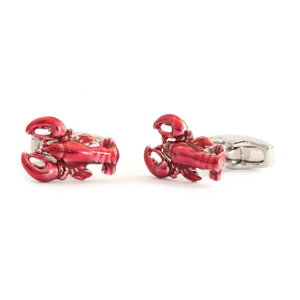 Red Lobster Enamel Cufflinks