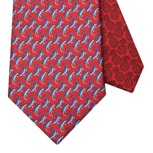 Men's Gecko Red Silk Tie