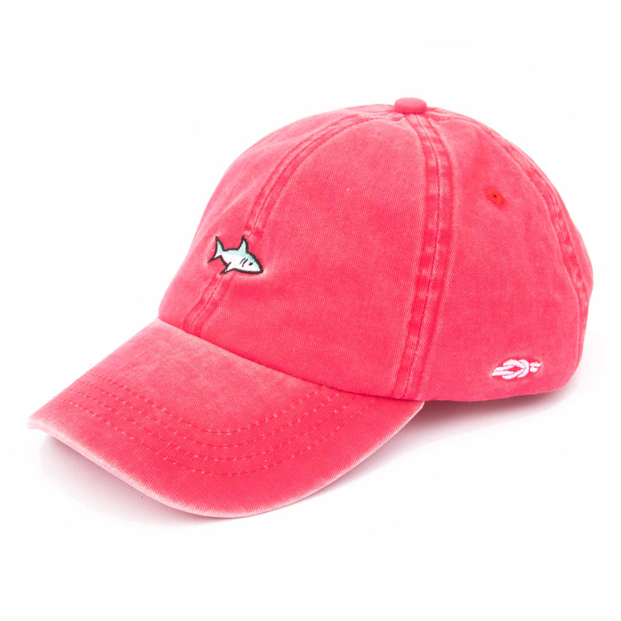 Shark Baseball Cap - Coral Red