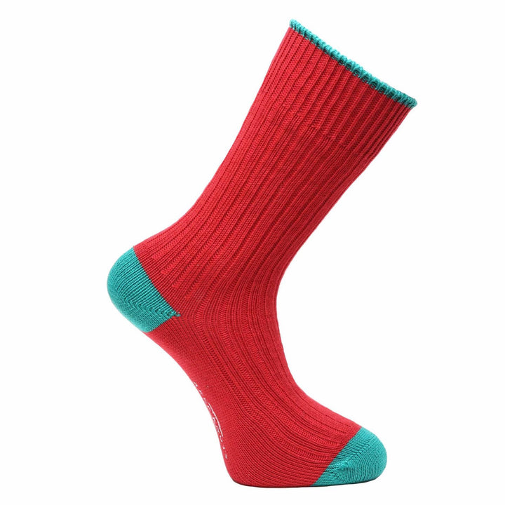 Redcurrant Red Socks - Chunky