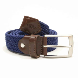 Royal Blue Woven Elasticated Belt