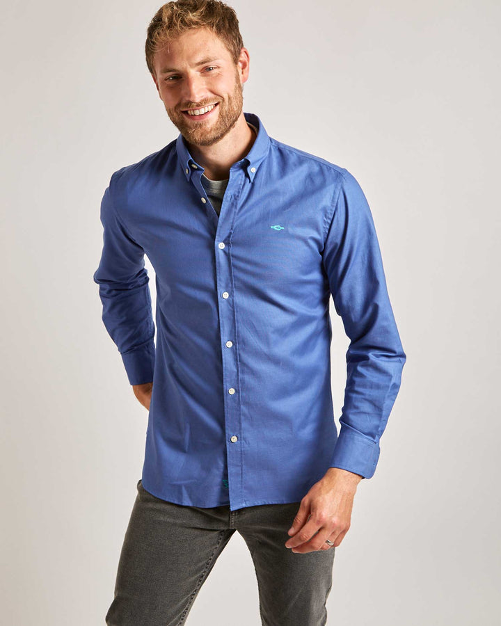 Royal Blue Button-Down Oxford Shirt