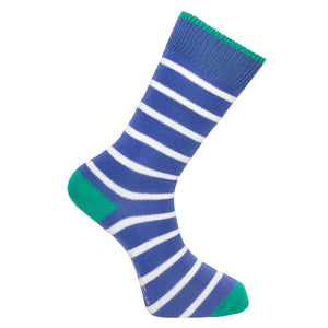 Royal Blue Stripe Socks - Lightweight