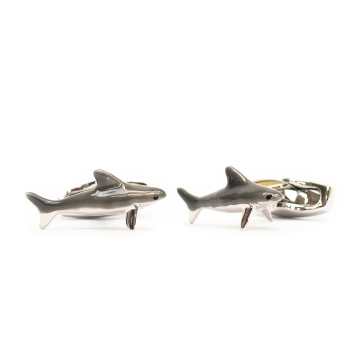 Enamel Shark Cufflinks