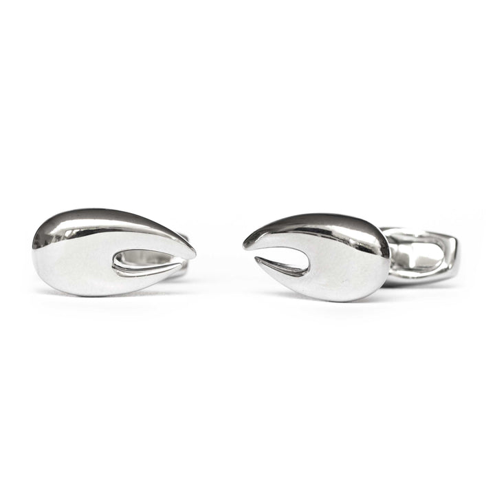Lobster Claw Cufflinks - Silver