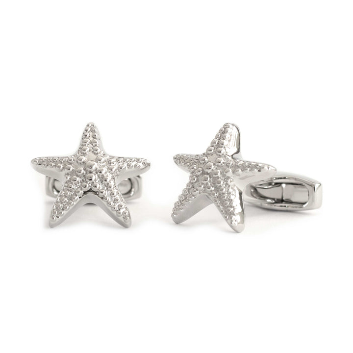 Silver Starfish Cufflinks