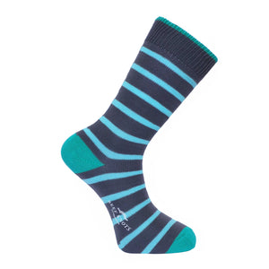 Dark Grey Stripe Socks - Lightweight
