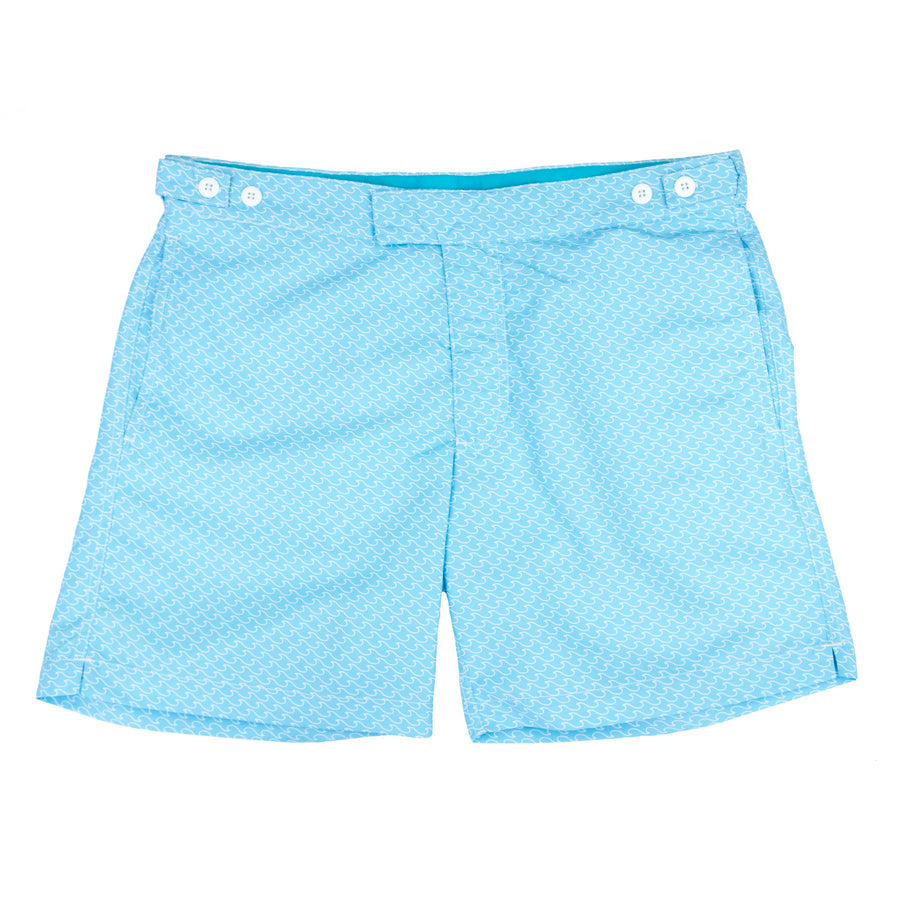 Blue Wave Tailored Swim Shorts