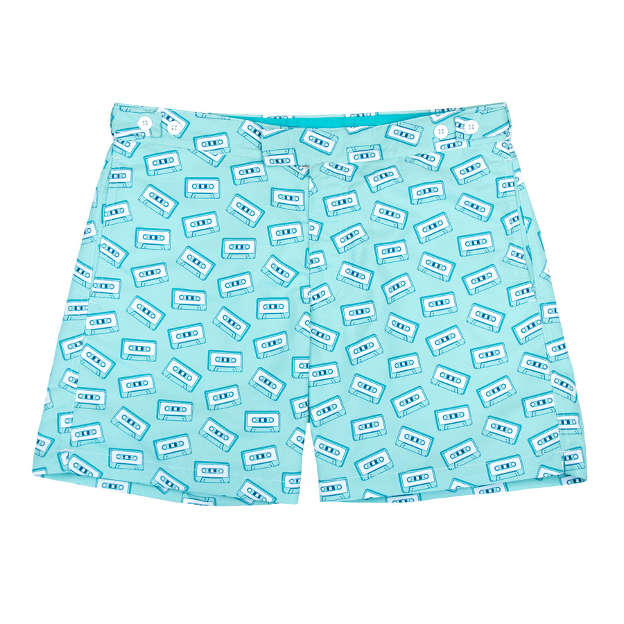 Cassette Tape Tailored Swim Shorts