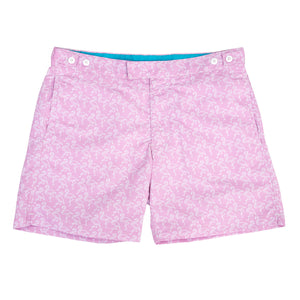 Pink Flamingo Tailored Swim Shorts