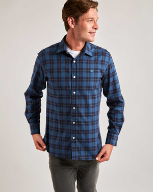 Blue Aviemore Check Cotton Shirt