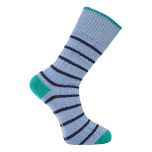 Light Blue Stripe Socks - Chunky