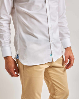 White Oxford Shirt - Traditional Collar